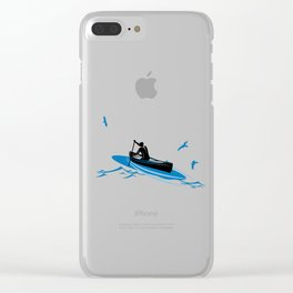 Kayak Water Sports Paddle Kayaking Lovers Gifts Clear iPhone Case
