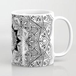paisley black and white hippie boho mandala Coffee Mug