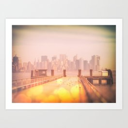 Liberty Island - Ektachrome and Bokehs Art Print