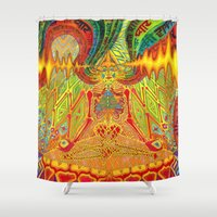 meditation Shower Curtains featuring Meditation by Vedran Misic
