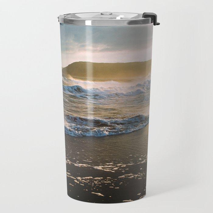 Misty Ocean #sunset Travel Mug