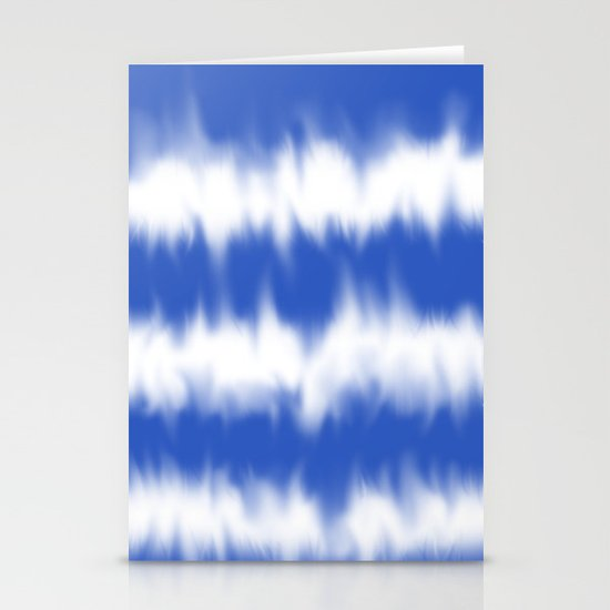 Blue tie dye Stationery Cards