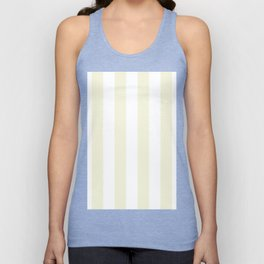 Vertical Stripes - White and Beige Unisex Tank Top