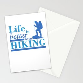 Life Is Better With Hiking pb Stationery Cards