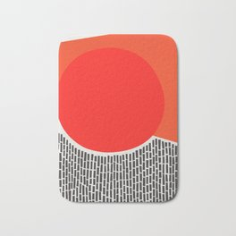 Sunshine And Rain Abstract Bath Mat