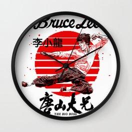"""Bruce """"The little Dragon"""" Lee By La Brea Wall Clock"""