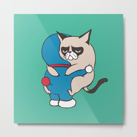 Cat Hugs Metal Print