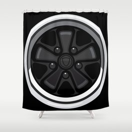 Wheel Design Retro Fuchs Felge Shower Curtain