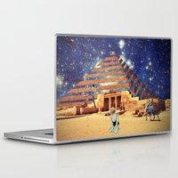 pyramid Laptop & iPad Skins featuring Pyramid by Cs025
