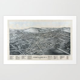 Cortland - New York - 1894 Art Print