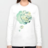 hydrangea Long Sleeve T-shirts featuring MINT HYDRANGEA by INA FineArt