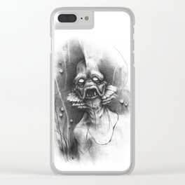 The Shadow from Beneath Clear iPhone Case