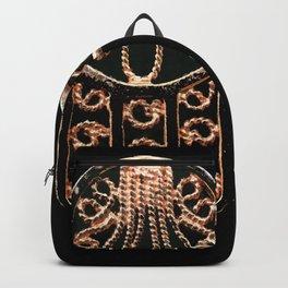 Golden Hamsa Hand On A Black Background #decor #society6 Backpack
