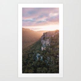 Sundial Peak lookout Art Print