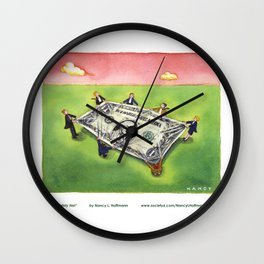 Dollar Safety Net Wall Clock