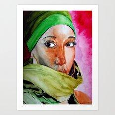 african Eyes Art Print