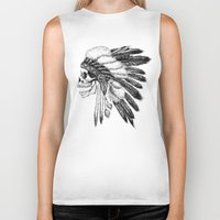 american Biker Tanks featuring Native American by Motohiro NEZU