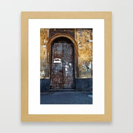 Old Sicilian door of Catania Framed Art Print
