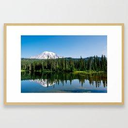 Mt. Rainer at Reflection Lakes Framed Art Print
