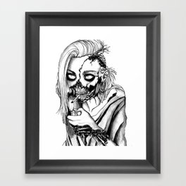 Smoking Zombie Framed Art Print