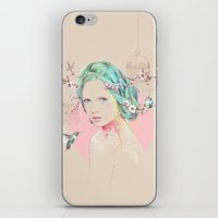 cherry blossom iPhone & iPod Skins featuring Cherry Blossom  by Ariana Perez
