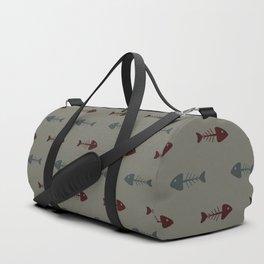 Fish bone pattern Duffle Bag
