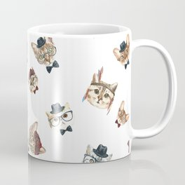 Cat People Pattern Coffee Mug