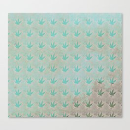 Mint Marijuana Leaves Canvas Print