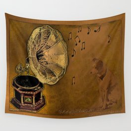 His Master's voice Wall Tapestry