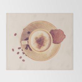 Vintage Coffee Love Photography Throw Blanket