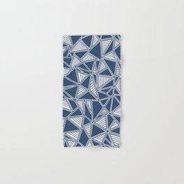 Abstract Outline Lines Navy Hand & Bath Towel