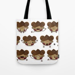 Chestnut Girl Mood Tote Bag