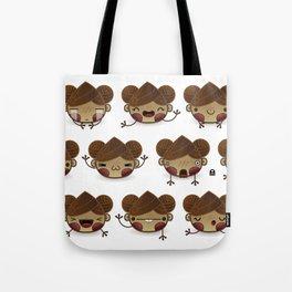 Chestnut Girl Mood Tote Bag
