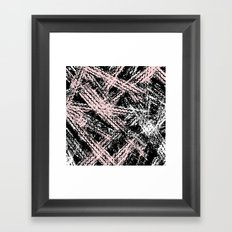 Desert Tracks Pink Framed Art Print