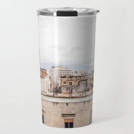 Naples rooftops with clouds Travel Mug