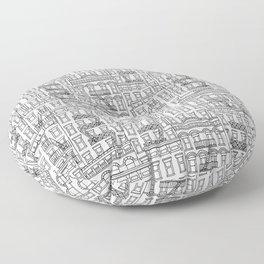 New York Hand Drawn Illustration Floor Pillow