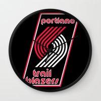 nba Wall Clocks featuring NBA - Trail Blazers by Katieb1013