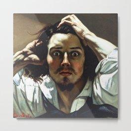 "Gustave Courbet ""The Desperate Man (Self-Portrait)"" Metal Print"