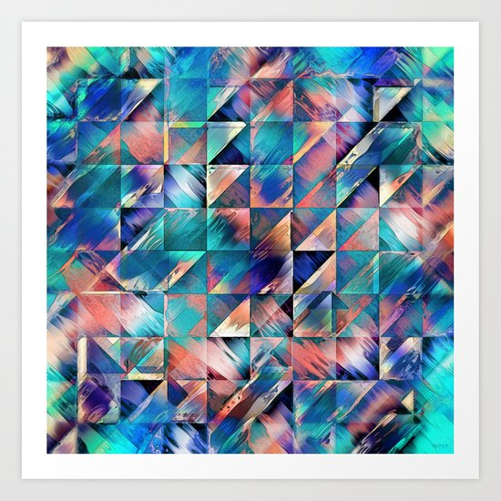 Textural Reflections of Turquoise Art Print