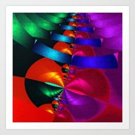 a fractal colormix Art Print