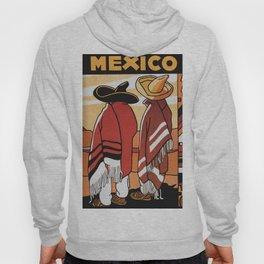 Mexico Travel - Men in Sombrero and Poncho Hoody