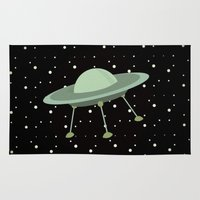 ufo Area & Throw Rugs featuring UFO by Mr and Mrs Quirynen