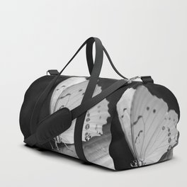 Papillon B/W Duffle Bag