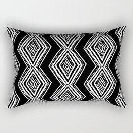 diamondback in black & white Rectangular Pillow