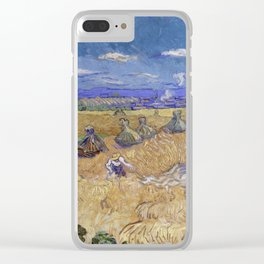 Vincent van Gogh - Wheat Fields with Reaper, Auvers Clear iPhone Case