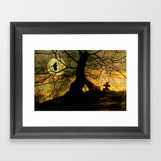 A mysterious place Framed Art Print