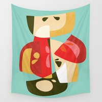 apple Wall Tapestries featuring Apple Slices by Picomodi