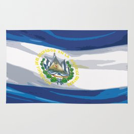 El Salvador Fancy Flag Rug
