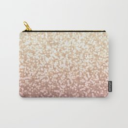 Champagne Gold Blush Pink Glittery Ombre Pattern #society6 Carry-All Pouch