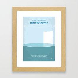 No769 My Erin Brockovich minimal movie poster Framed Art Print